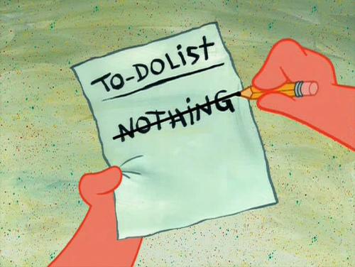 Что сделать сегодня? Ничего.